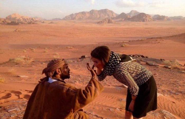Ali Al Zalabieh - Bedouin with guest, Wadi Rum